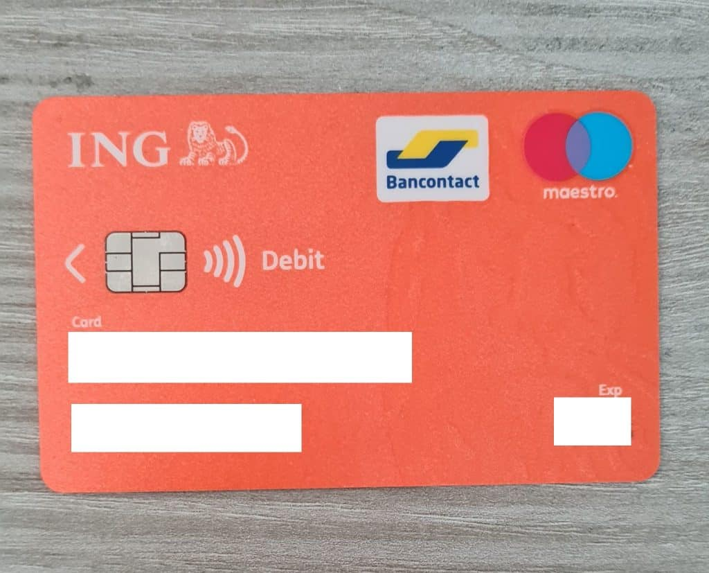 Carte Maestro ING |♪ cartes bancaires Numberless